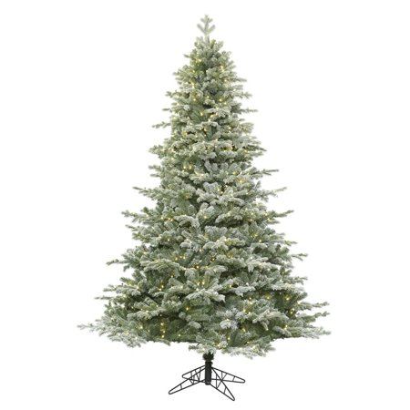 Vickerman 6.5\' Frosted Denton Spruce Artificial Christmas Tree with ...