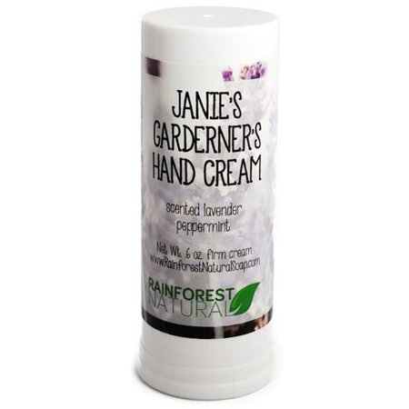 - Rainforest Natural 08 Janies Gardeners Hand Cream Solid Lotion - Scented Lavender Peppermint