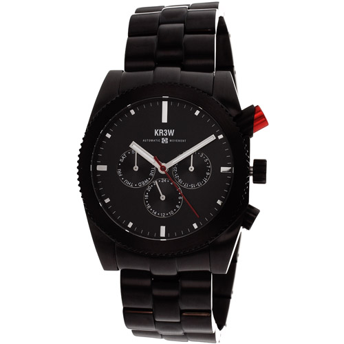 Kr3w Men's Red rum Watch Automatic Mineral Crystal K1342B