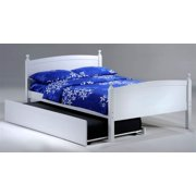 Licorice Full Bed in White w Trundle