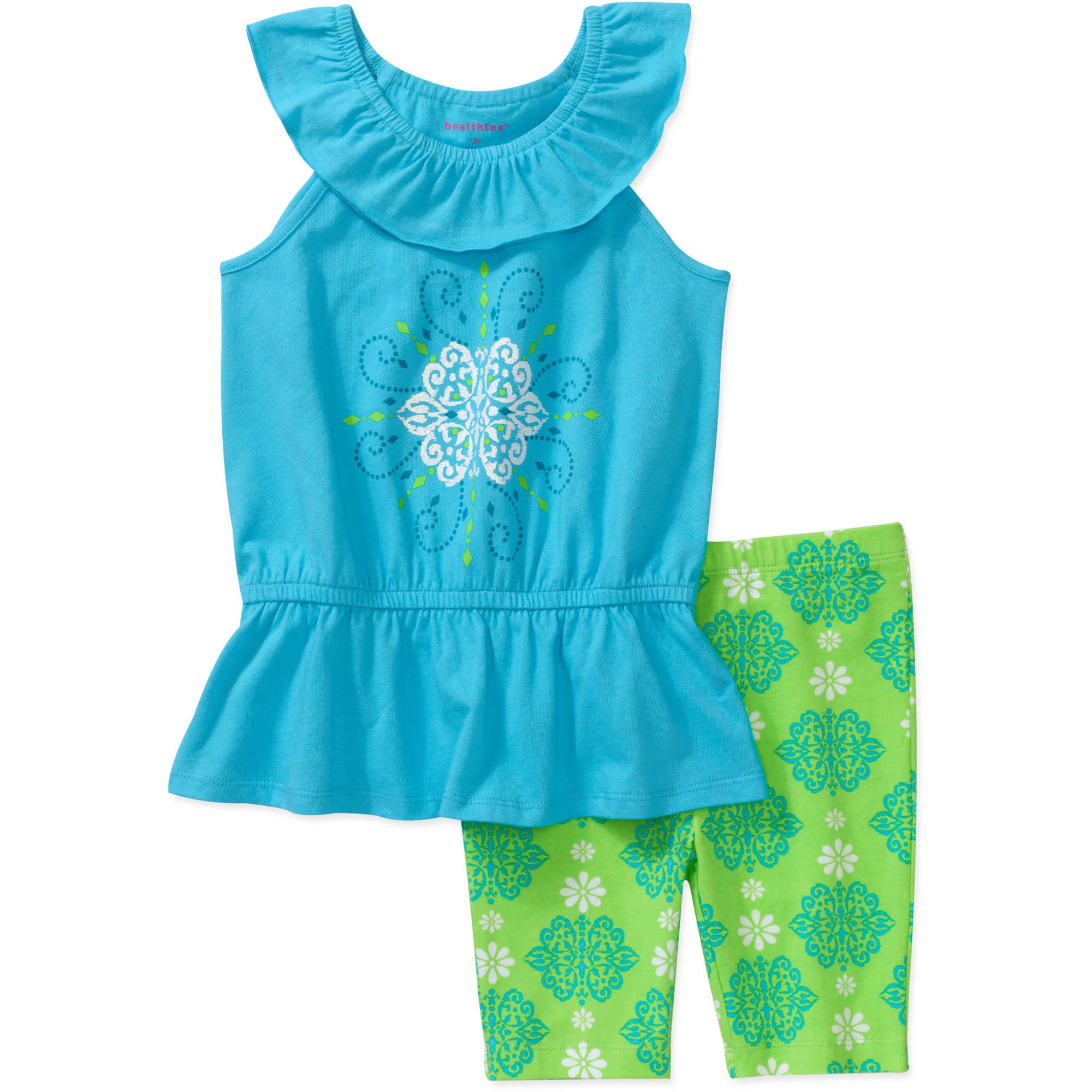 Healthtex Baby Girls' 2 Piece Drop Waist Tunic and Short Set