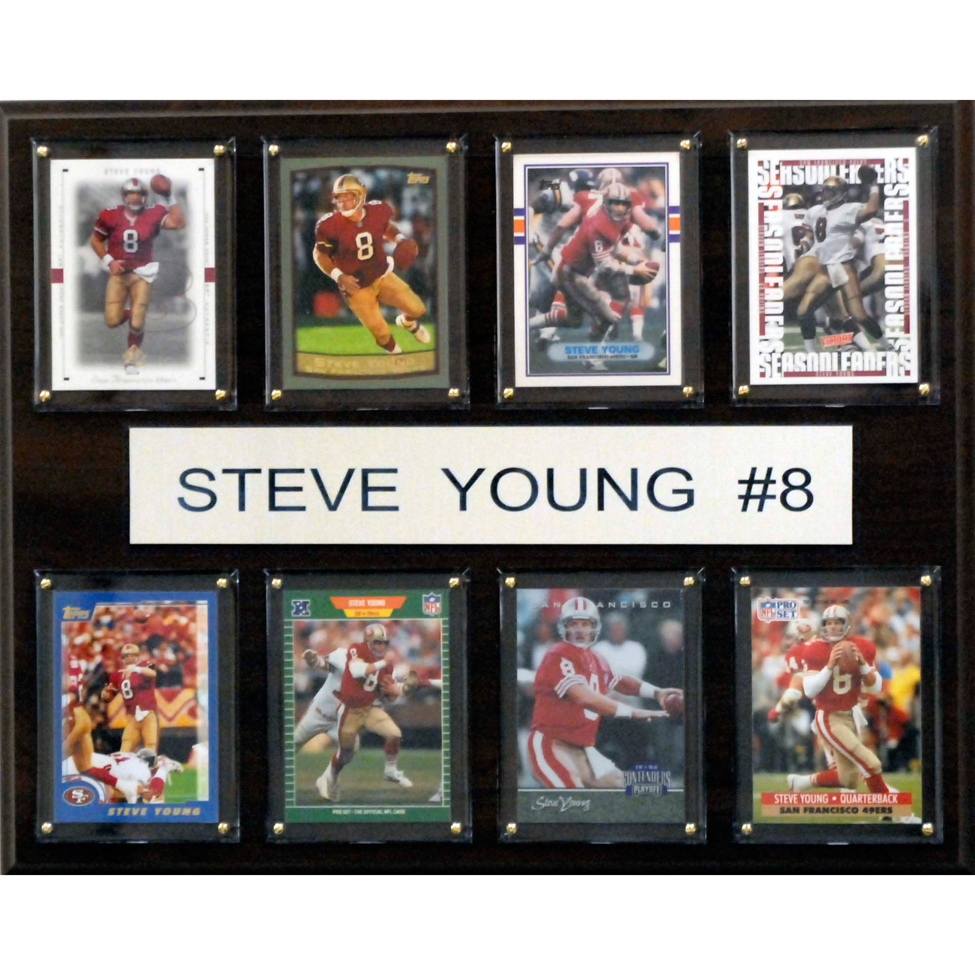 C&I Collectables NFL 12x15 Steve Young San Francisco 49ers 8-Card Plaque