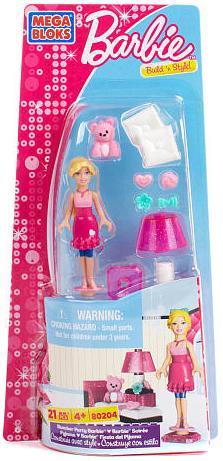 Mega Bloks Barbie Build 'n Style Slumber Party Barbie Set #80204 by Mega Bloks