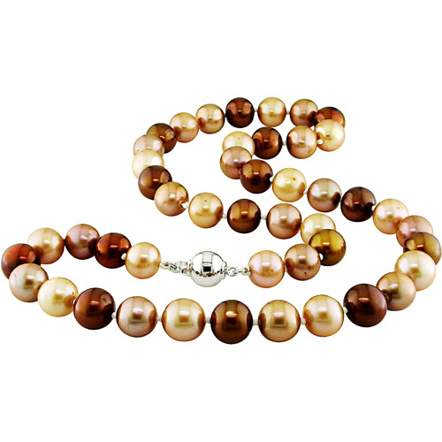9-10mm Multi-colored Cultured Freshwater Pearl Necklace, 18""