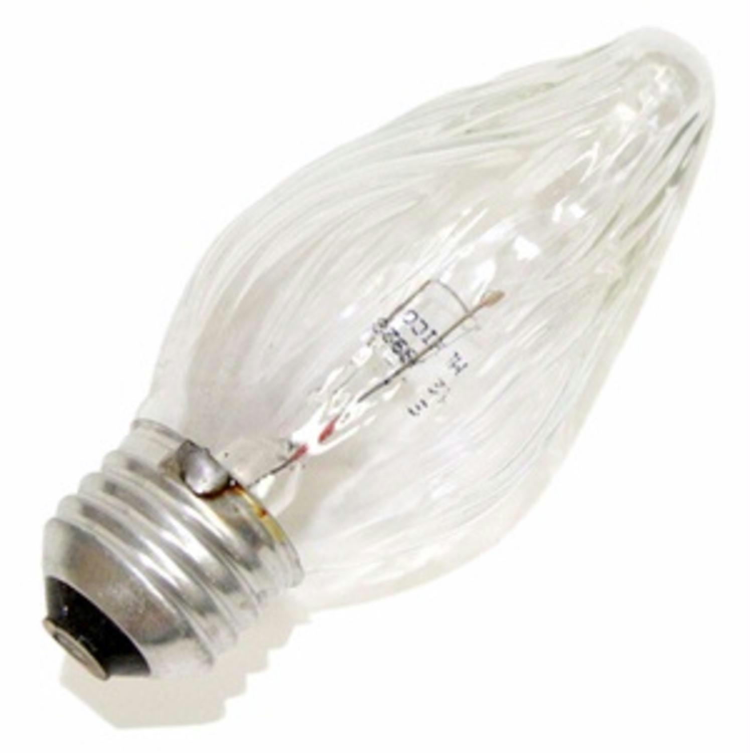 Pack of 25 Transparent Clear Flame E26 Base Replacement F15 Light Bulbs 40W
