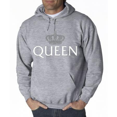New Way 159   Hoodie Queen Silver Crown Royalty Sweatshirt