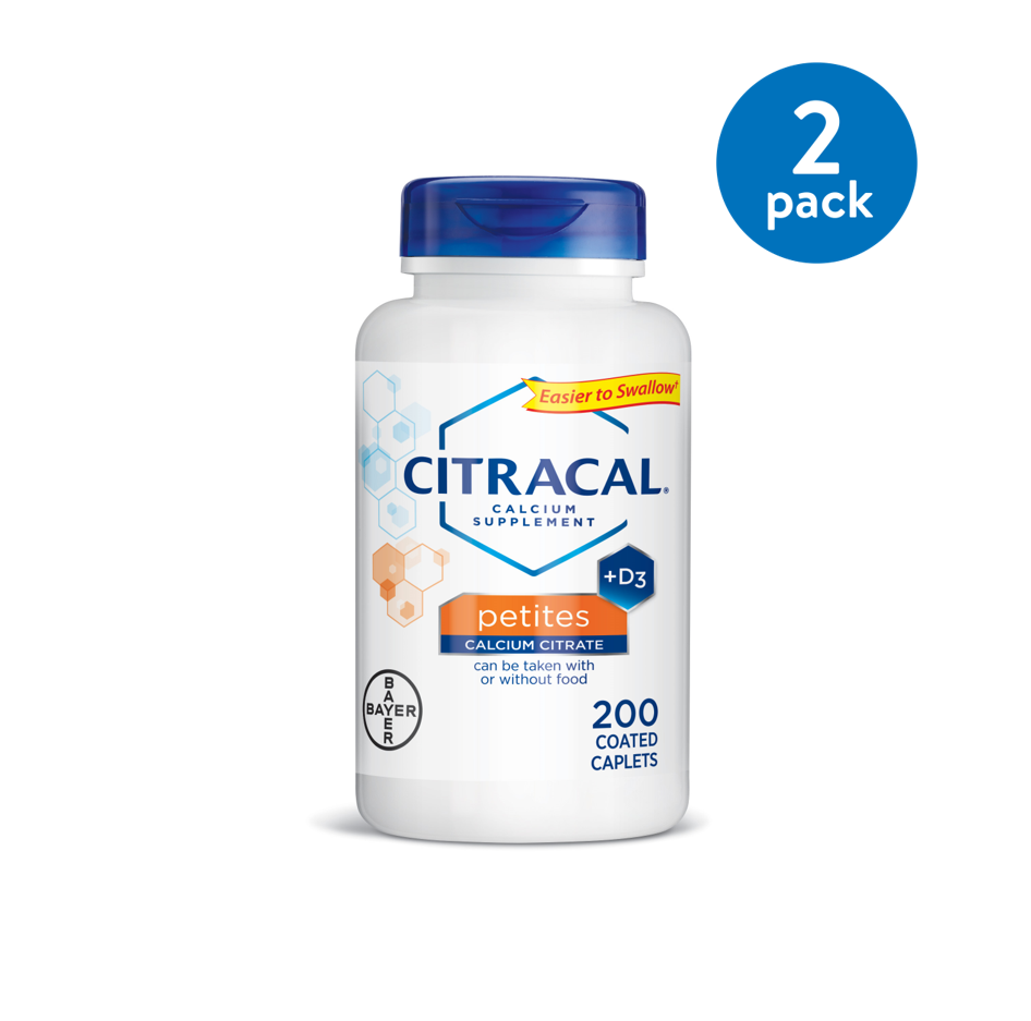 Citracal Petites, Calcium and Vitamin D3 Supplement to Support Bone Health*, 200 Easy-to-Take Caplets