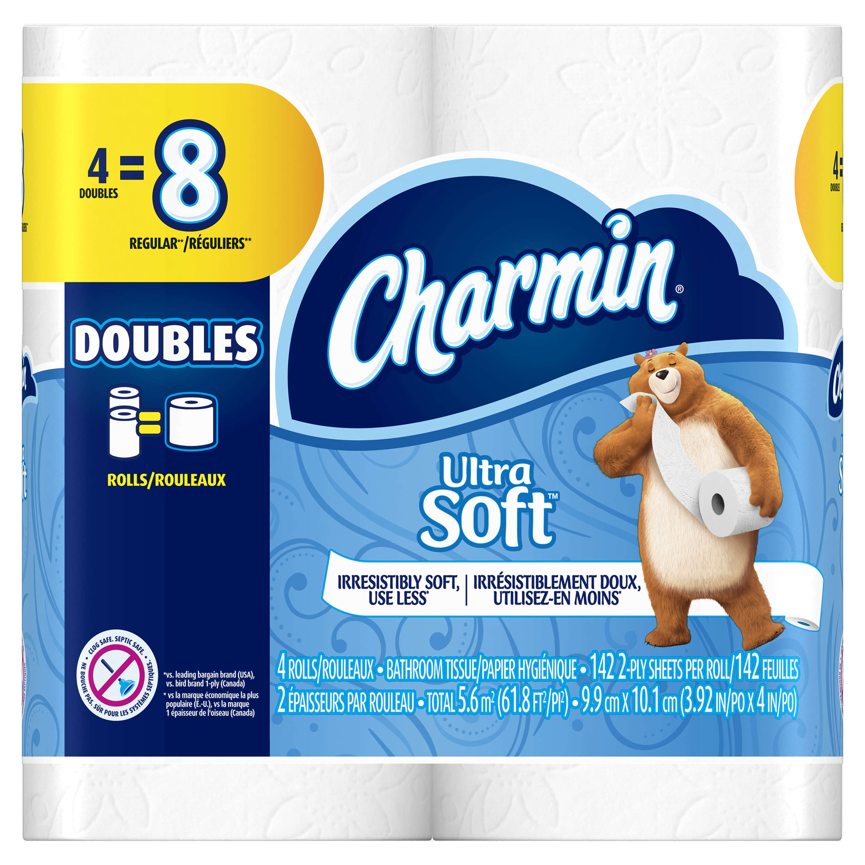 Charmin Ultra Soft Toilet Paper, 4 Double Rolls