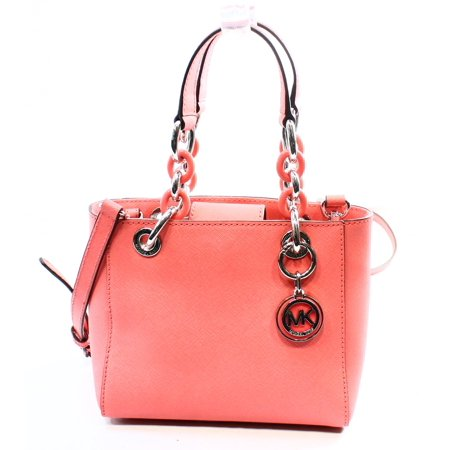 1205af89f6 Michael Kors - Michael Kors NEW Pink Coral Saffiano Cynthia Extra ...
