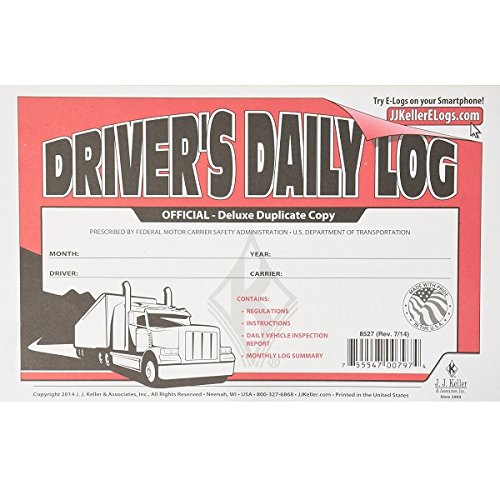 J.J. Keller 8527 Driver's Daily Log Book by Jj Keller