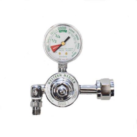 Oxygen 540 Regulators - Western Medica M1-540-P Large Oxygen Cylinder Regulator