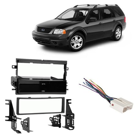 Fits Ford Freestyle 2005-2007 Single DIN Harness Radio Install Dash Kit