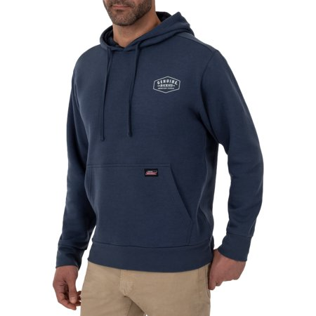 Genuine Dickies Men's Fleece Pullover with Flannel Lined Hoodie