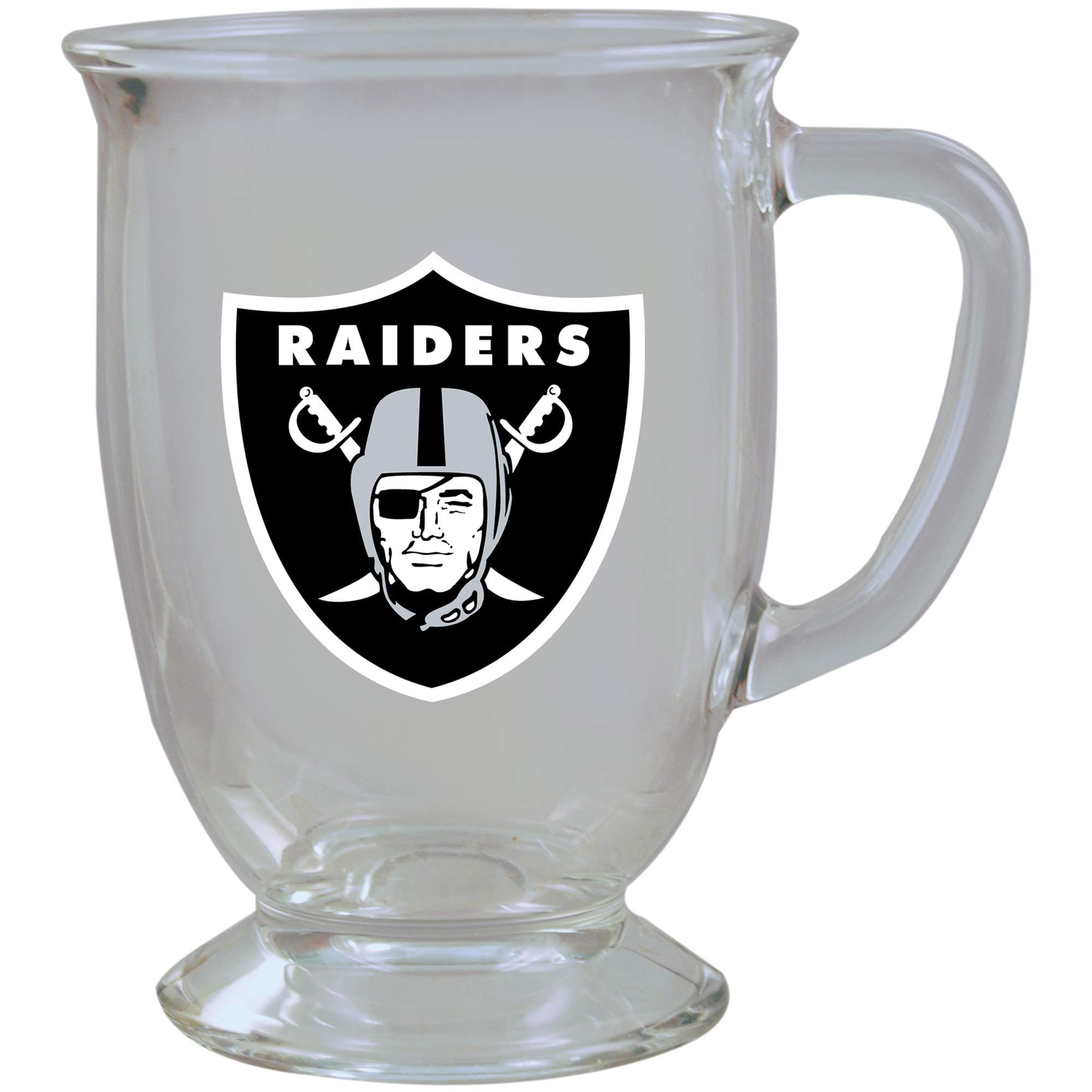 Oakland Raiders 16oz. Kona Glass Mug - No Size