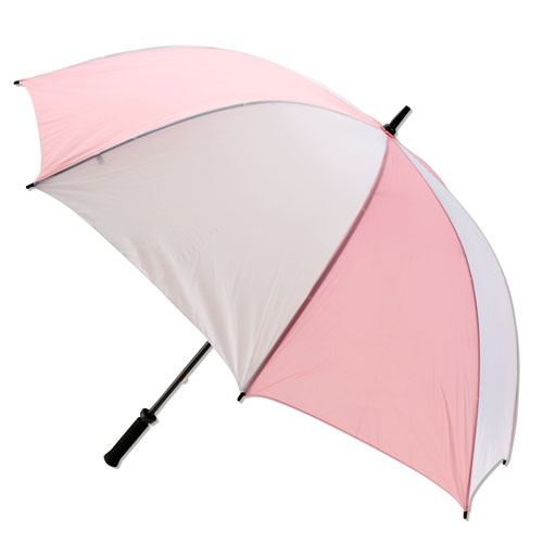 JEF World Of Golf 531PK 62 in. Pink & White Umbrella