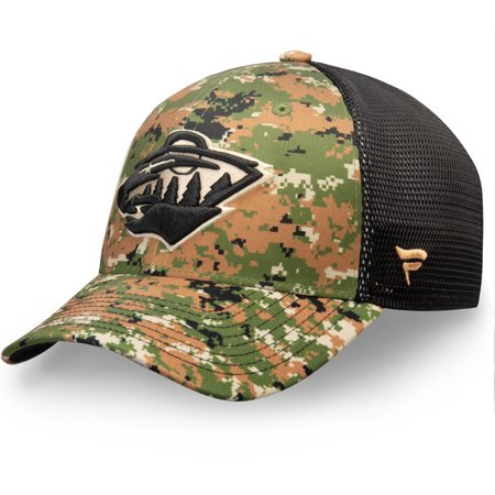 Minnesota Wild Fanatics Branded Authentic Pro Military Appreciation Speed Flex Hat - Camo