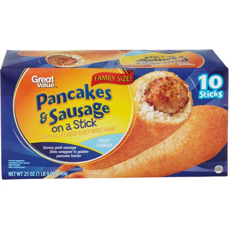 Great Value Pancakes & Sausage On A Stick, 10ct - Walmart.com