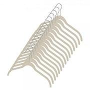 whitmor flocked dress/shirt hangers set of 15 beige