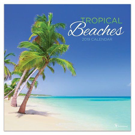 2019 Tropical Beaches Wall Calendar, by TF Publishing