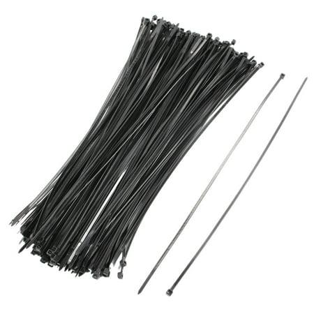 200 Pcs 4mmx350mm Network Nylon Cable Wire Trim Wrap Tie Cord Strap Loop - image 1 de 1