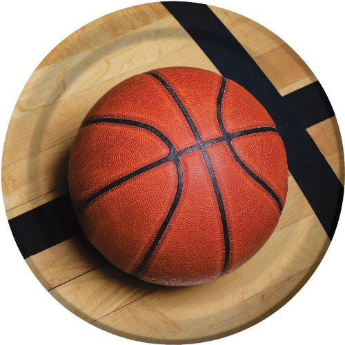 Sports Fanatic Basketball 9-inch Plates, By Creative Converting