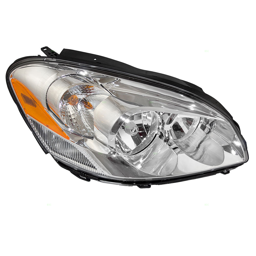 Passengers Halogen Combination Headlight Headlamp w/ Cornering Lamp Replacement for 06-11 Buick Lucerne 25974774