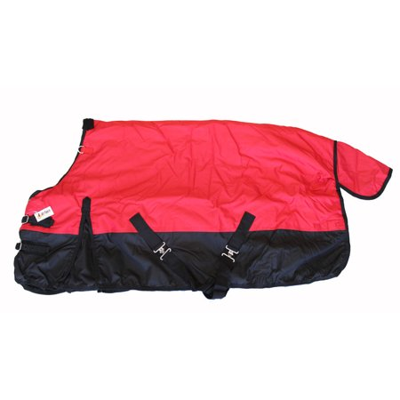 - Pony Horse Turnout Blanket Rip Stop 600D Water Proof 300G Medium Weight Red