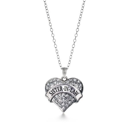 Sister in Law Pave Heart Necklace