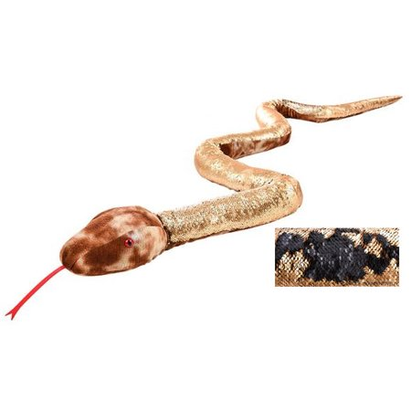 Adventure Planet Sequinimals Plush - NATURAL SNAKE (Sequin - Black & Gold) (102 inch)](Plush Snakes)