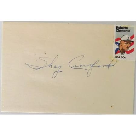 Shaq Crawford Mlb Umpire Auto Envelope
