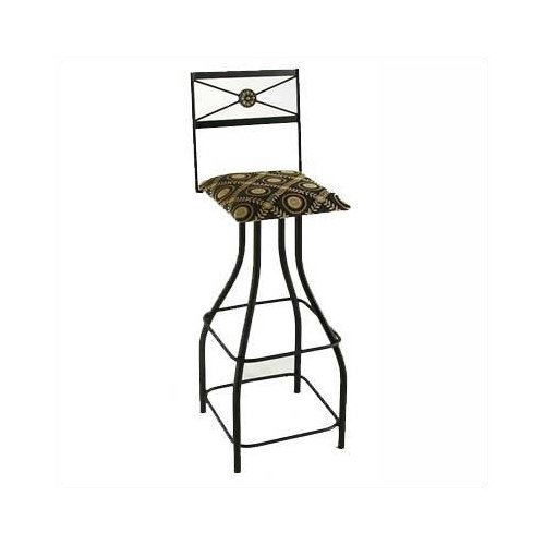 Grace Collection Tall Neoclassic 36'' Swivel Bar Stool