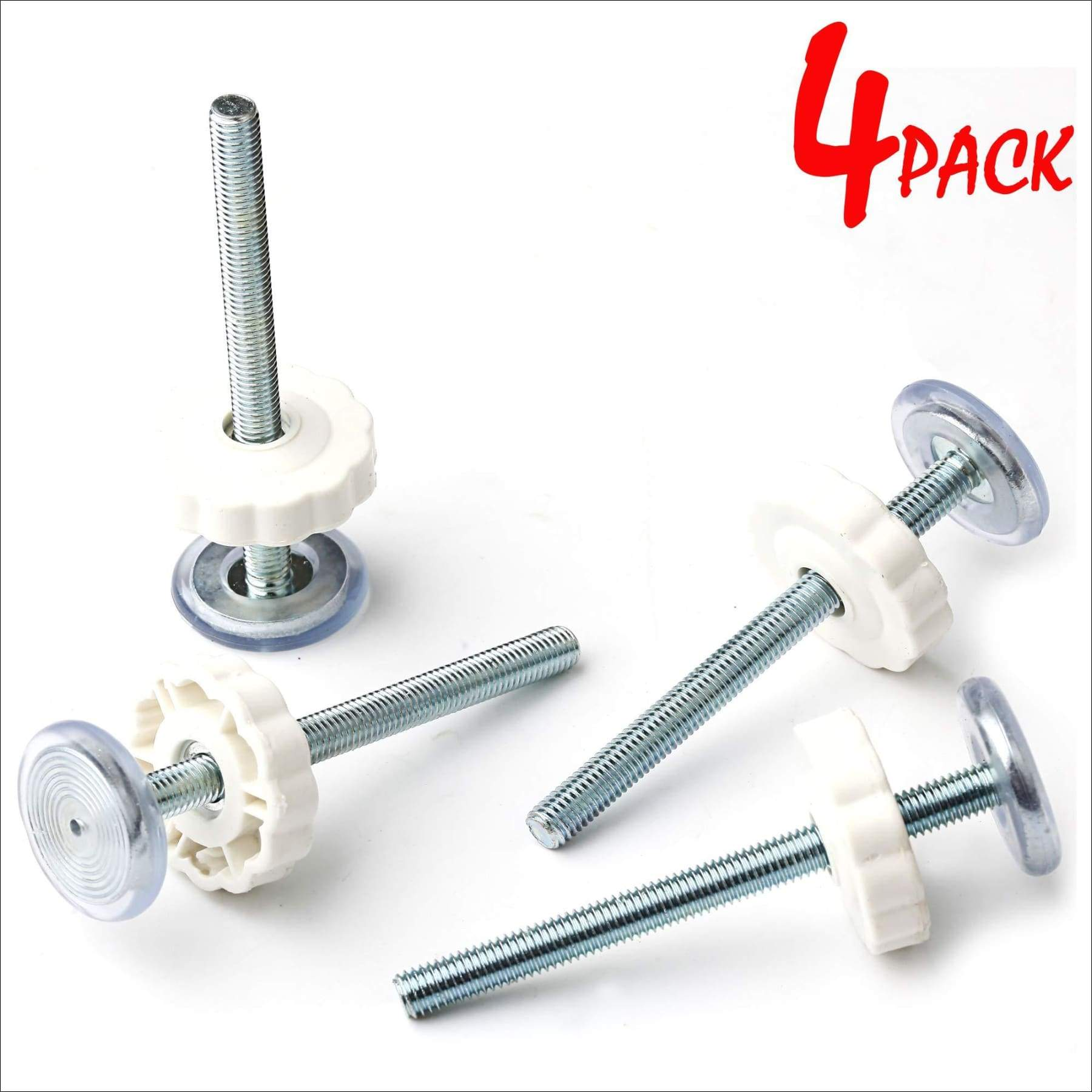 4 Pack M8 Pressure Mounted Baby Gates Threaded Spindle Rods,8 MM Walk Thru Gates