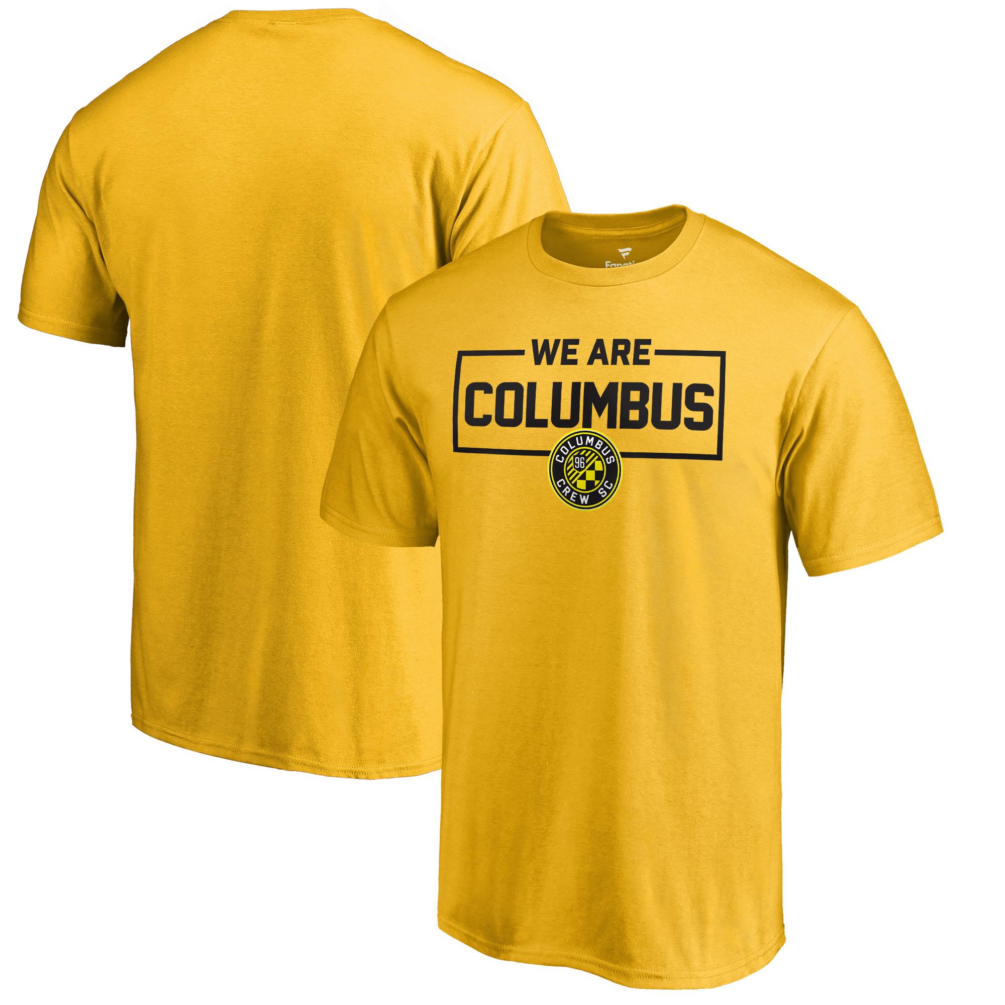 Columbus Crew SC Fanatics Branded We Are T-Shirt - Yellow