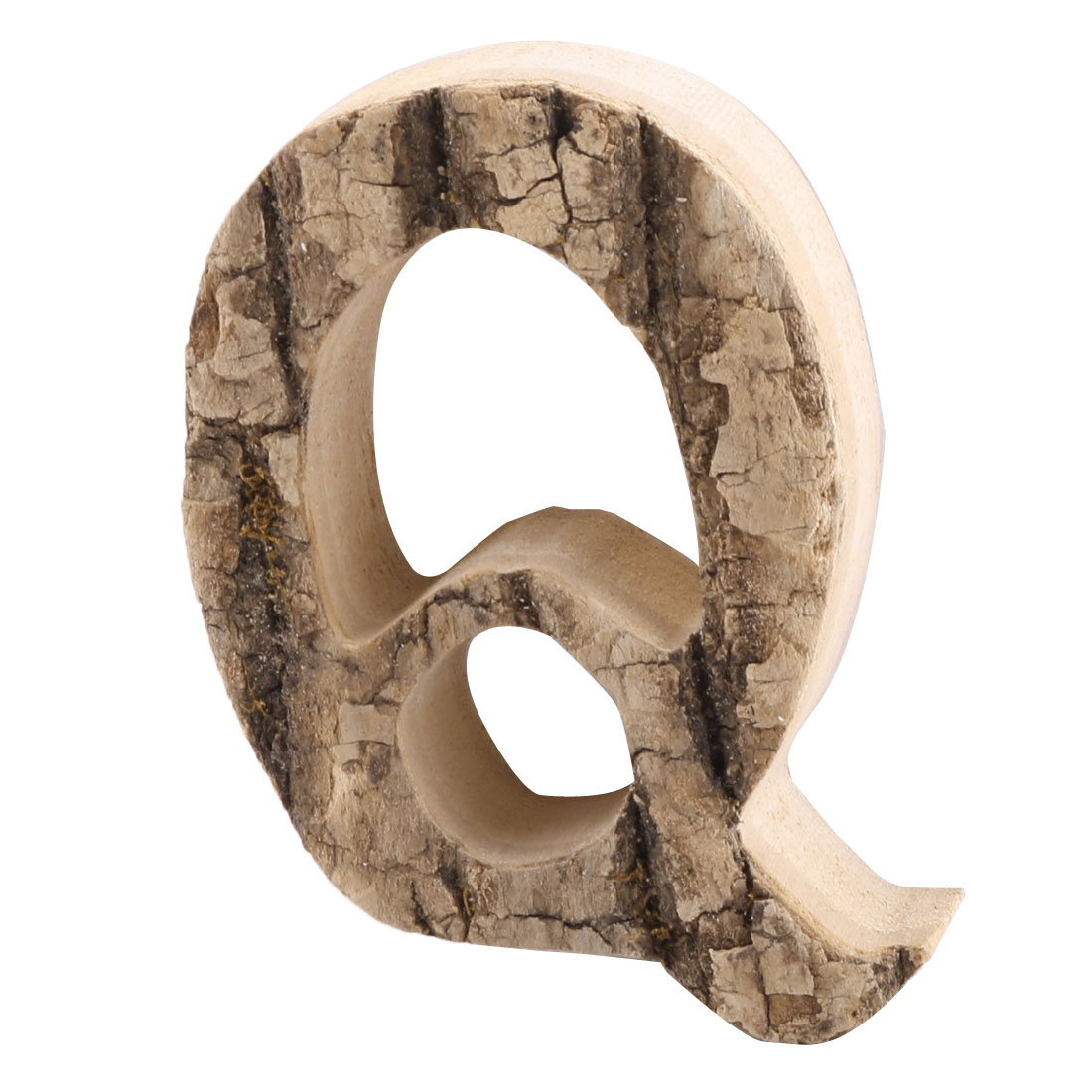 Family Street Wood Q Shaped Retro Style Door Plate Letter Label Sign Wall Decor