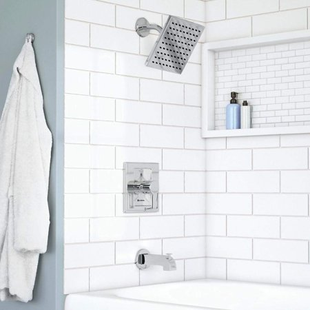 Glacier Bay Chrome Modern Tub and Shower Set 1001240663