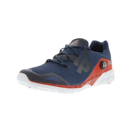 Reebok Men's Zpump Fusion 2.0 Blue / Red White Ankle-High Running Shoe - 13M - Fusion Jordan Shoes
