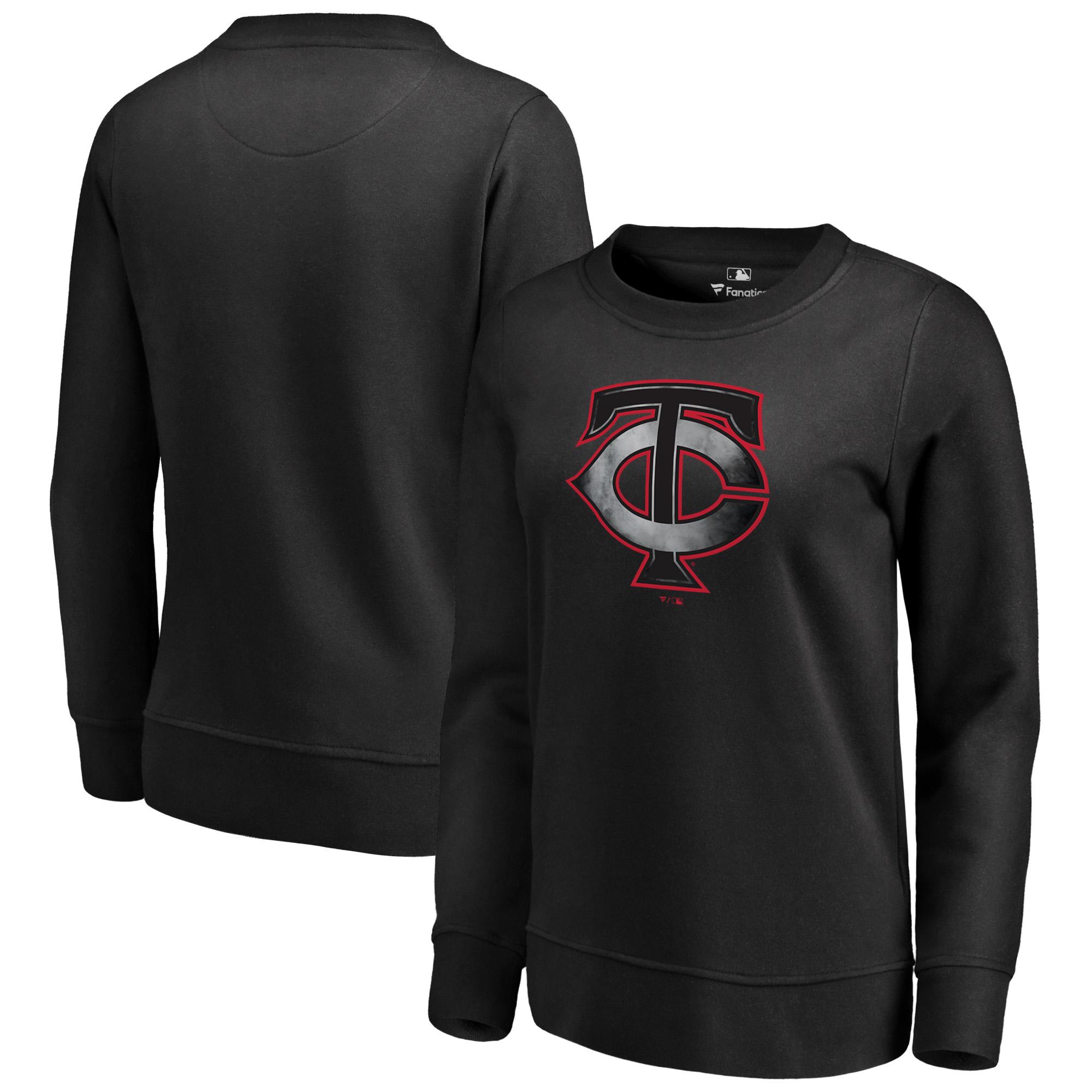 Minnesota Twins Fanatics Branded Women's Core Smoke Fleece Sweatshirt - Black
