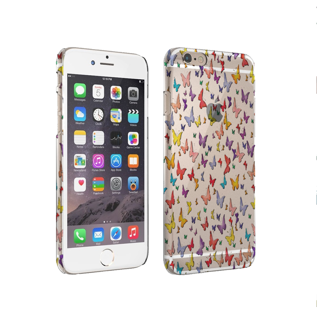 KuzmarK iPhone 6 Plus Clear Cover Case - Butterfly Wings
