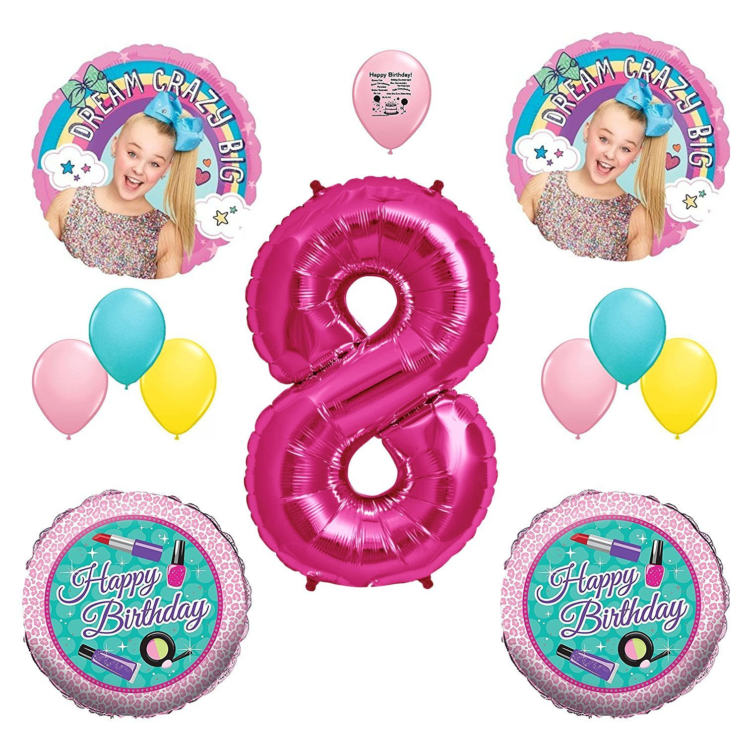 JoJo Siwa Party Supplies 8th Birthday Party Balloon Decoration Kit