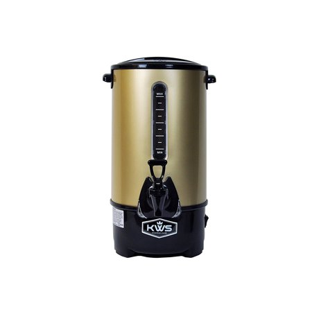 KWS WB-20 15.5L/66Cups Commercial Heat Insulated Water Boiler and Warmer Stainless Steel (Gold) (Water Boiler Commercial)