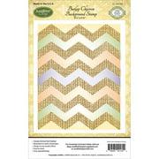 "JustRite Papercraft Cling Background Stamp, 4.5"" x 5.75"", Burlap Chevron"
