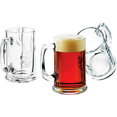 16 Oz Beer Mugs (Libbey 15-oz. Brewmaster Beer Mugs, Set of)