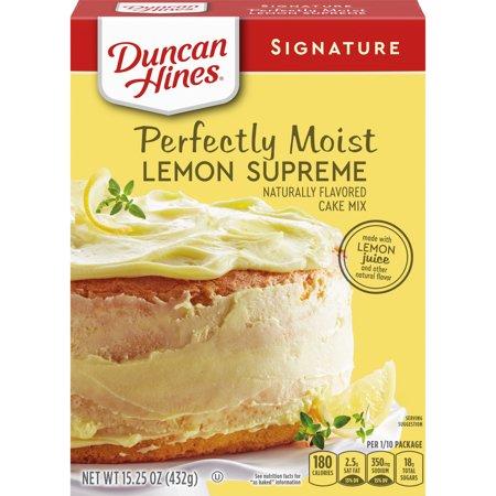 Duncan Hines Signature Perfectly Moist Lemon Supreme Cake Mix 15.25 OZ