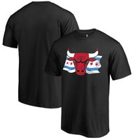 Chicago Bulls Fanatics Branded Black Hometown Collection Chicago Flag T-Shirt
