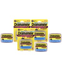 Dramamine Chewable Motion Sickness Relief for Kids, Grape, 8 Count, 3 Pack
