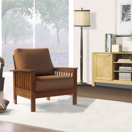 Weston Home Mission Rust Champion Accent Chair Mission