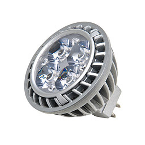 GE 66128 7w LED 3000k MR16 GU5.3 Silver Dimmable Narrow Flood NFL25 12v Bulb