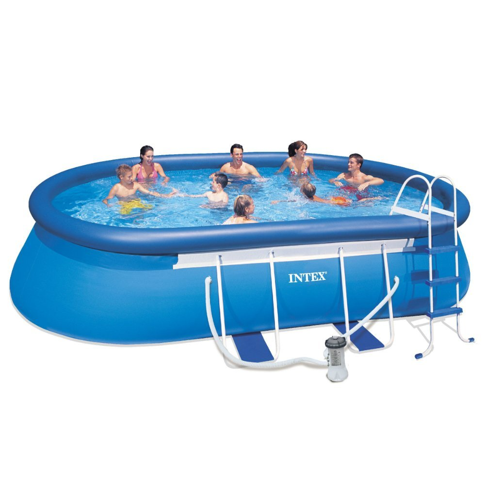 Intex Recreation 18ft X 10ft X 42in Oval Frame Pool Set