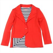 Klever Kids SS13-G94-8 Girls -Jacket with Stripe Lining, 8 Years