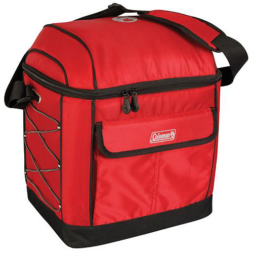 Coleman 16-Can Urban Soft Cooler with Liner, Red